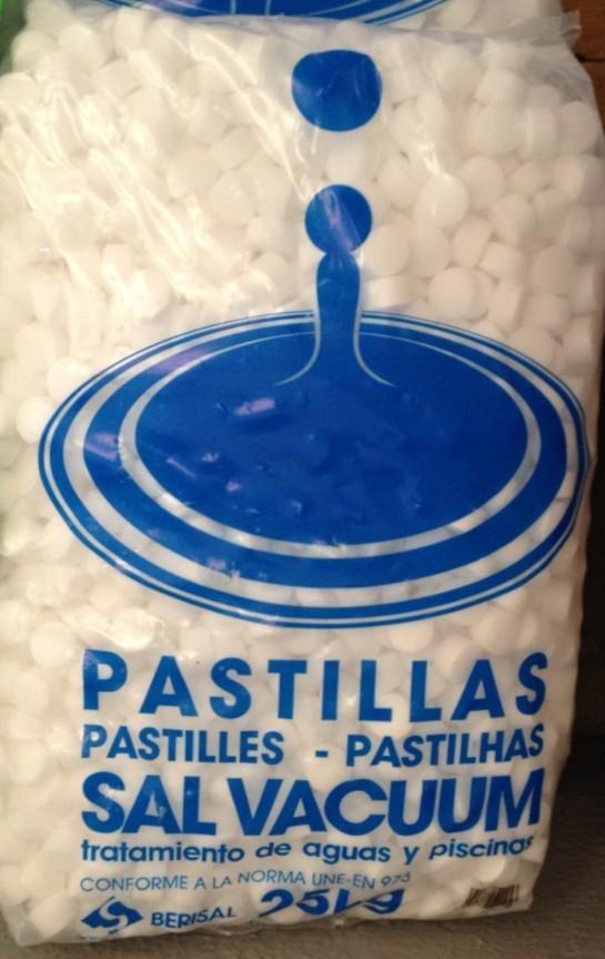 Sal pastillas berisal 25kg vall s distribuciones for Sal vacuum pastillas